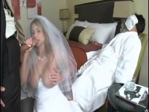 man fuck bride while grooms didn't awake