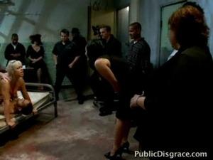 Buxom jail whore has many friends