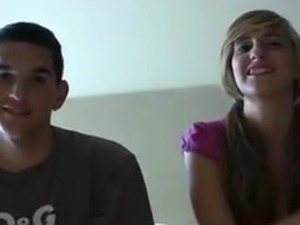 Spanish amateur teen couple audition on camera