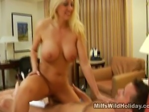 We have this lovely busty milf named Cala in this scene. Watch her as she...