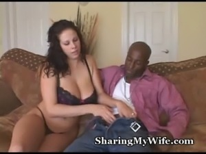 Busty Wifey Devours Huge Cock free