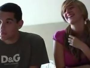 Spanish Amateur Teen Couple Audition On Camera