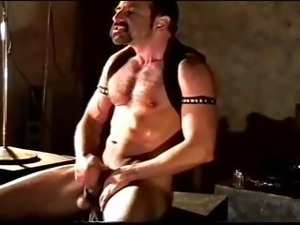 Self CBT session by a hairy muscular man. He's getting off on his self...