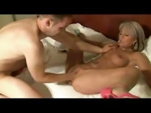 Mature blonde German gal gets fisted then drilled in her ass