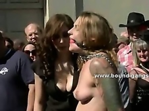 Brunette model dreaming a pervert fantasy where her mouth is drilled deep in...