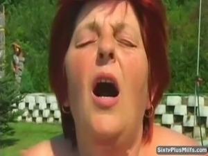 Dirty old slut gets cumhozed af ... free