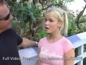 Fresh blonde cutie teen picked up free