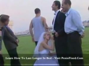 Horny bride sucks off wedding party free