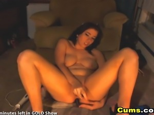 Busty hot chick strokes her tight shaved cunt right in front of you so you...