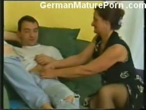 German granny fucking young guy free