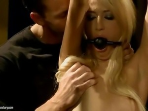 Blonde getting painfully punished