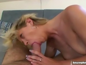 Blonde Milf Sucked and Banged