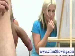 Girls gives handjob to male model free