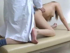 Young innocent woman is used by her perverted gynecologist during a examination.