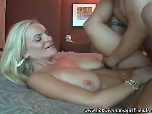 Blonde Hot Wife Blowjobs and Fucking Horny Dick