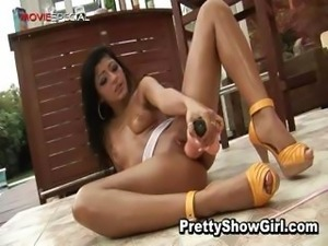Super hot indian babe working on a big part4