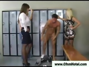 Dominating femdom whores get off