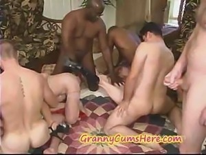 A GRANNIES cum soaked FUCK PARTY