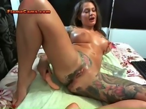 Busty Tattooed Babe Anal