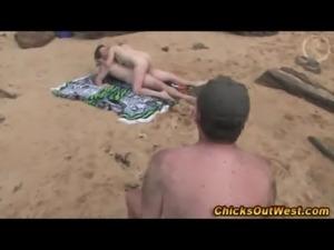 Girl cocksucking on the beach free