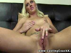 Heavenly blonde stripper from Orange County on the Casting Couch