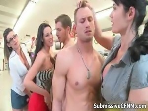 Three naked guys getting their cocks part6
