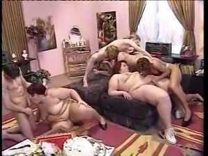 Horny group of Big Ladys make a Birthday.....