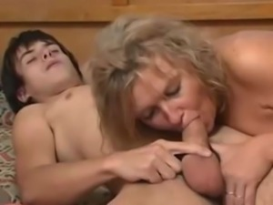 Mom fucks sons friend again free