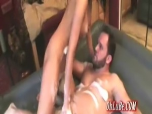hot brunette slut soapy massage free