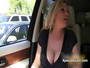 Busty blonde babe gets horny showing off part3