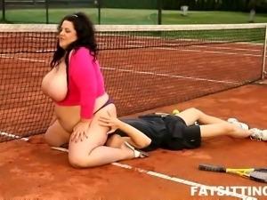 Guy swallowed by HUGE ass on BBW femdom video