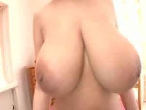 Rin Kajika having her giant tits grabbed by a japanese man. Her tits are...