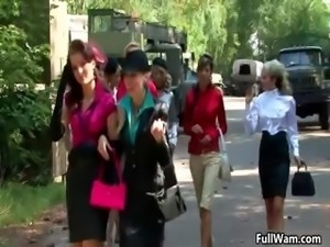Group of hot women gets ready to get part3