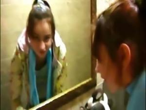 Petite Natasha teenager naked at toilet