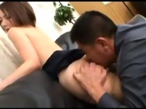 Japanese Wife forced sex Hardcore fucking threesome sex Bukkake Blowjobs...