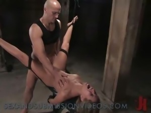 Bound sexy Asain anal rough fucked and manhandled