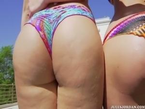 Alexis Texas & Jayden Jaymes Pool Fuck free