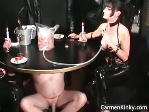 Older guy is sex slave to two dirty part1