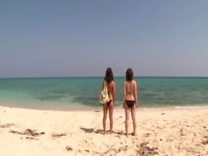 Rin Kajika and Karina Hatsumi at the beach free