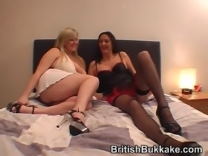 Amateur bukkake party with mature woman free