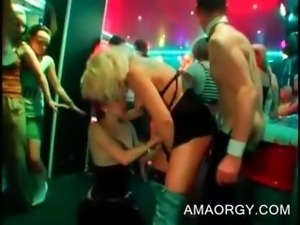 Party slut gets mouth and cunt fucked by stripper