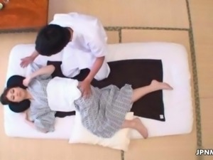 Horny from Japan gets a sexy massage