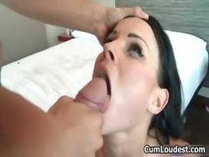 Nasty brunette slut goes crazy sucking part6