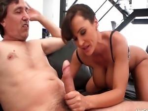 Lisa Ann rides a huge cock