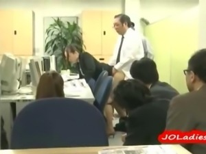Office Lady Fucked By 2 Guys One By One In Front Of The Whole Office