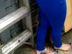 Culona de Leggins Azul B.H