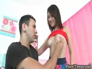 Slutty brunette girl shows her nice part4