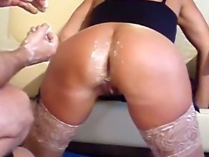 Double anal fisting the wifes slutty hole