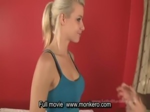 Young blonde fucked at massage free