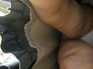 granny upskirt with a slip